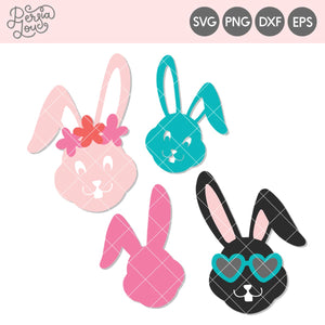Bunny Faces Cut File