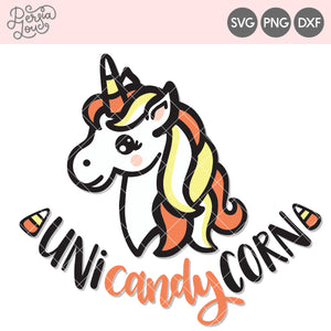 Candy Corn Unicorn Cut File