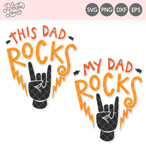 Dad Rocks Guitar Pick SVG Cut File