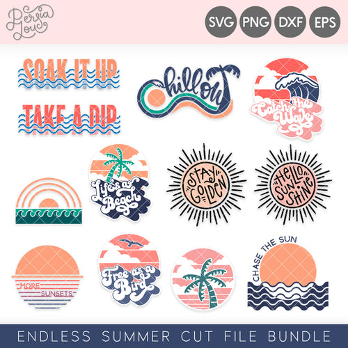 Endless Summer SVG Cut File Bundle