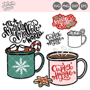 Hygge Mugs Winter SVG Cut Files