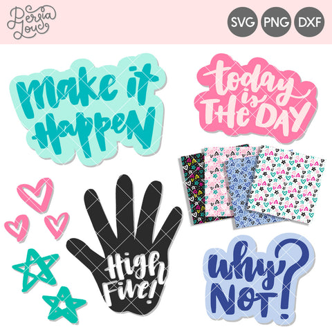 Make it Happen Motivational Cut File Mini-Bundle