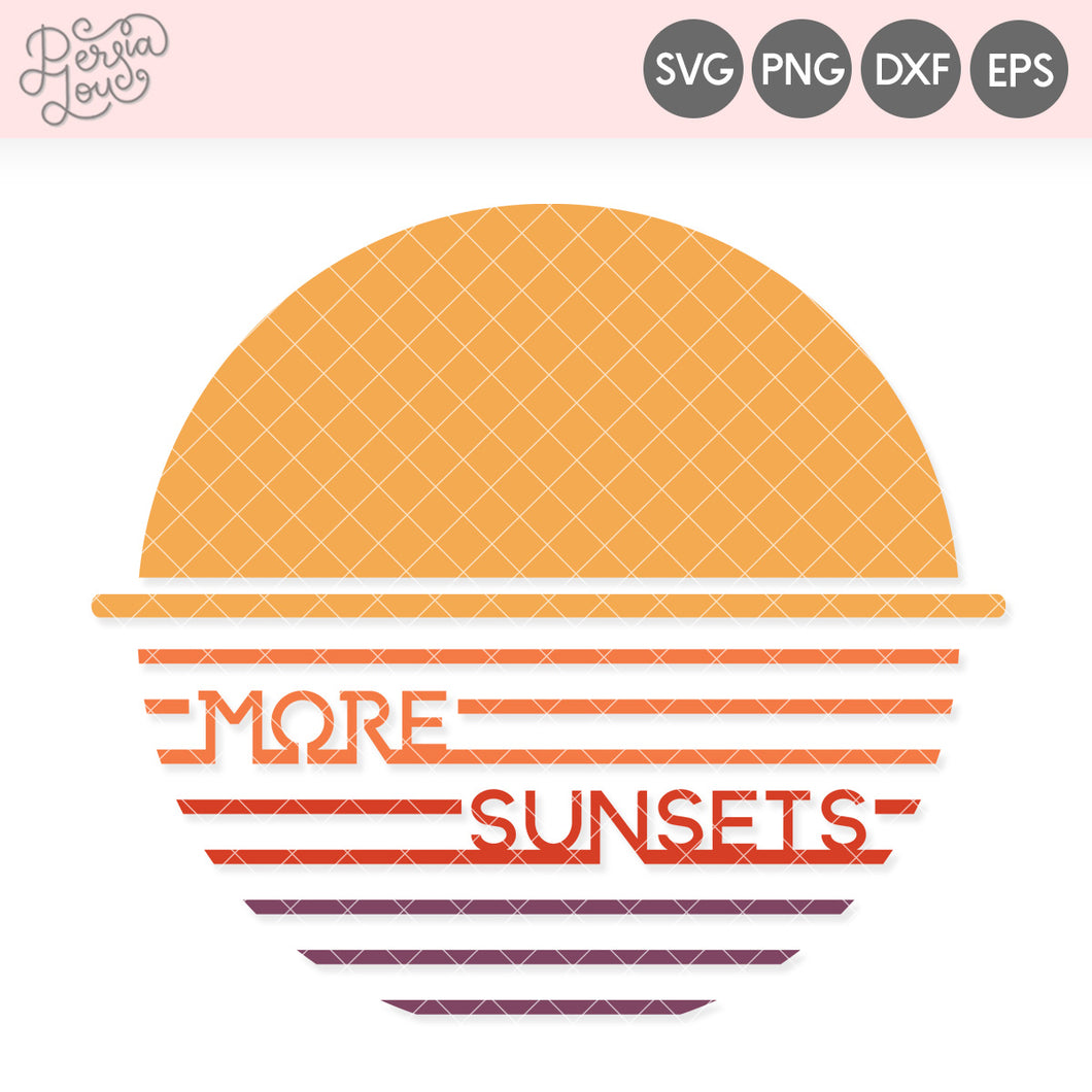 More Sunsets SVG Cut File