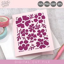 Floral Cut Out Card SVG Cut File