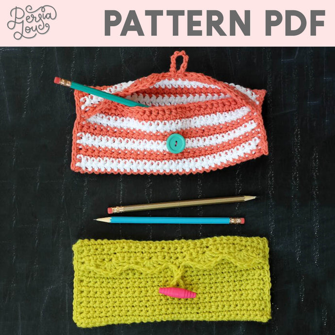 Simple Pencil Pouch Crochet Pattern PDF