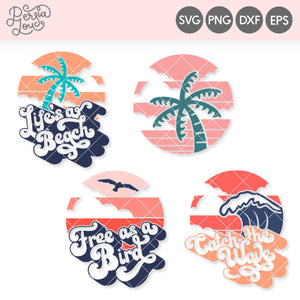 Retro Sunset SVG Cut File Mini Bundle