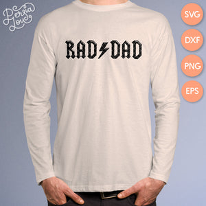 Rad Dad Father's Day SVG Cut File Bundle
