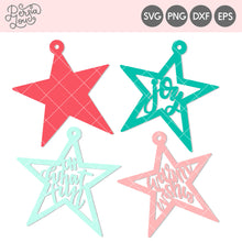 Star Christmas Gift Tags Cut File
