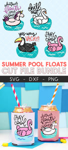 Pool Float Cut File Mini Bundle