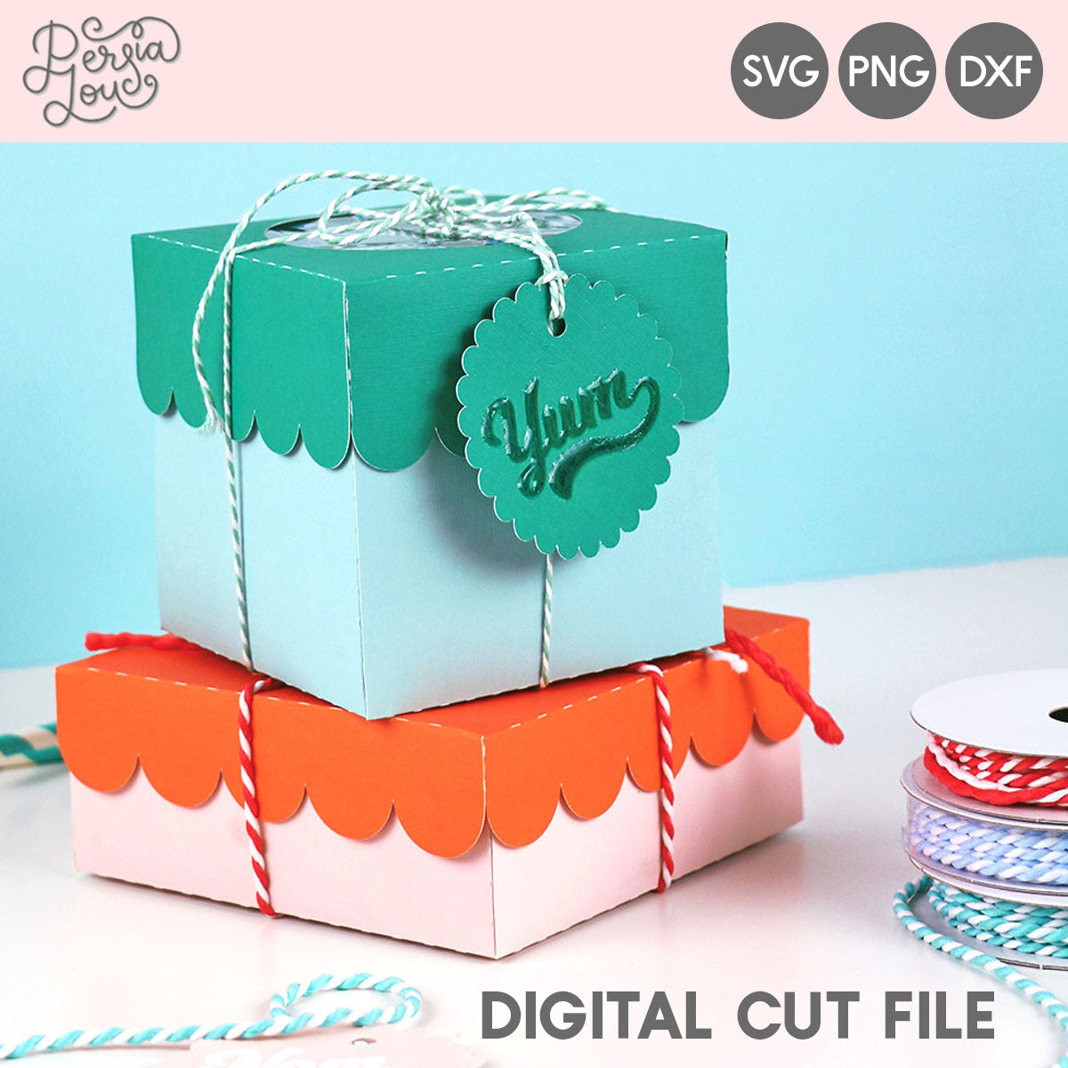 Scalloped Sweet Treat Boxes Cut Files