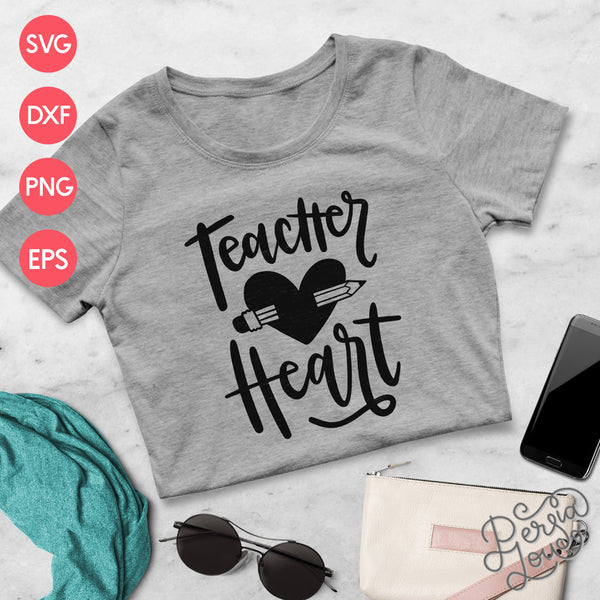 Teacher Heart Cut File
