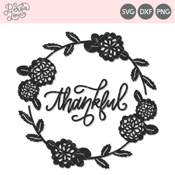 Thankful Wreath Cut File
