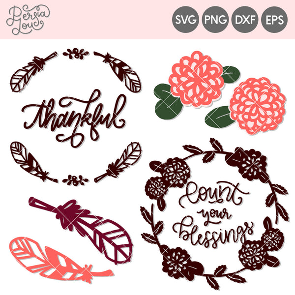 Thanksgiving Wreaths Cut File Mini Bundle