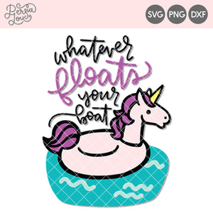 Unicorn Pool Float Cut File