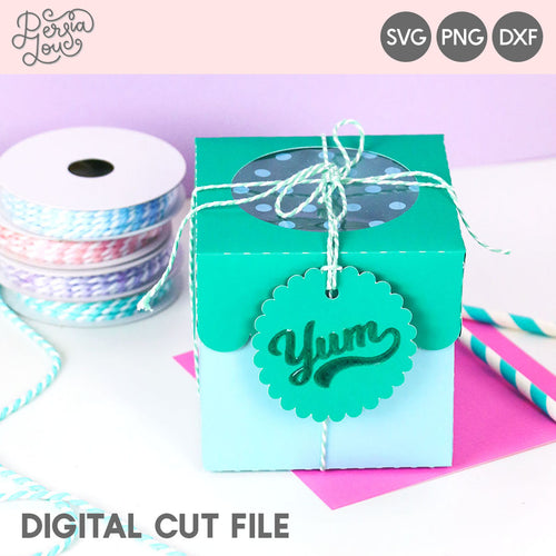 Window Cupcake Box SVG Cut File