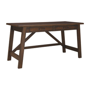 Baldridge Wide Leg Desk - Rustic Brown