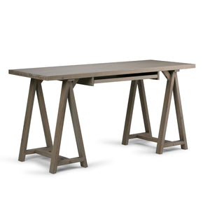 Sawhorse Solid Wood Modern Industrial 60 inch Wide