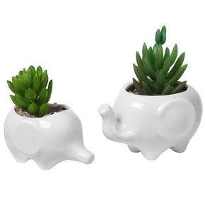 Elephant Ceramic Flower Pots