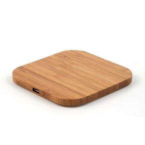 Slim bamboo Wood Qi Wireless Charger