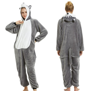 Grey Husky - Adult Onesie