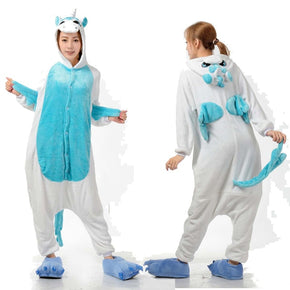 Blue  wings unicorn - Adult Onesie