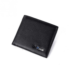 Men Smart Wallet Genuine Leather Anti-theft GPS Locator