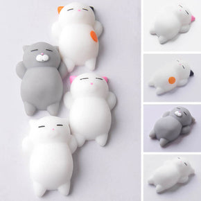 Cute anti-stress mini squeeze cat stress relief toy