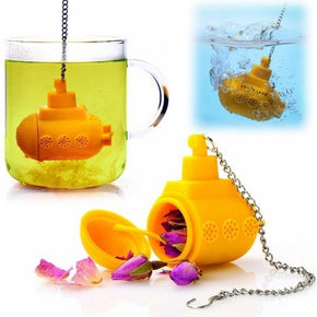 1 Pcs Submarine Tea Infuser Reusable Silicone Tea Bag Creative Cute Tea Strainer Silicone Filter For Tea Favor Mug Accessories