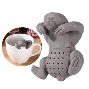 Strainer  Silicone Sloth Tea Infuser Tea Filter Strainer for Loose Leaf Tea Reusable Coffee Filter (Grey)