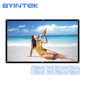 White Projector Screen