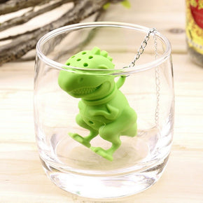 Dinosaur Filter Diffuser Strainer Loose Leaf Silicone Tea Infuser Herbal