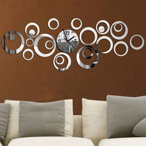 Quartz Wall Clock Europe Design Reloj De Pared Large Decorative Clocks 3d Diy Acrylic Mirror Living Room