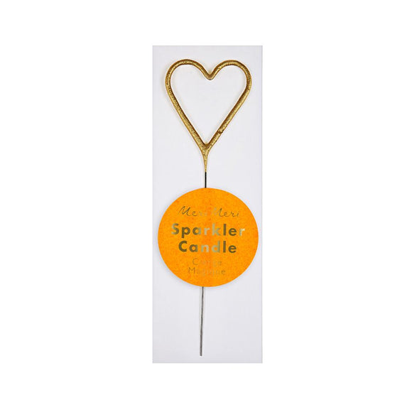 Meri Meri | Gold Sparkler Heart Mini Candle