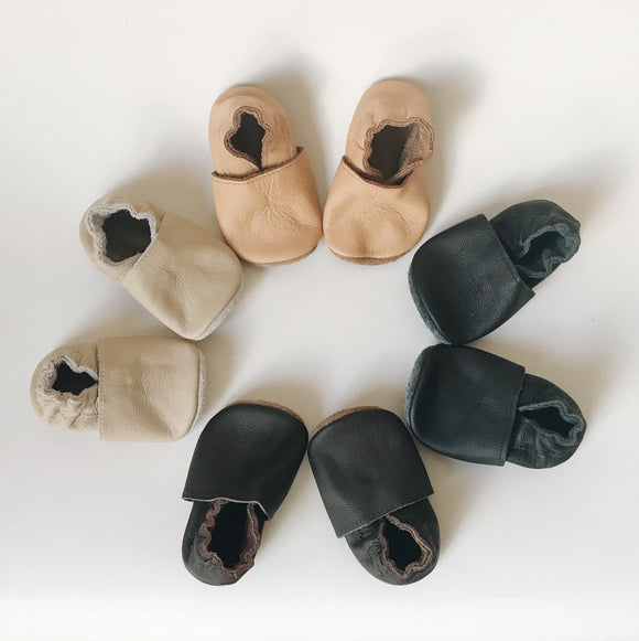 Rumi | Leather Baby Booties