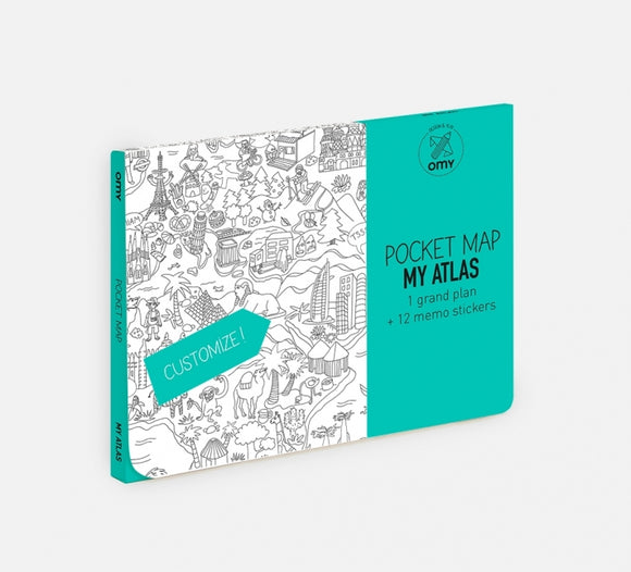 OMY | Atlas Coloring Pocket Map