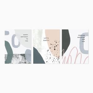 Evermore Paper Co | Assorted Abstract Cards, Boxed Set of 6