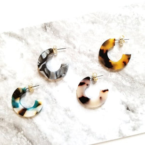 Dear Soho | Demi Tortoise Hoops