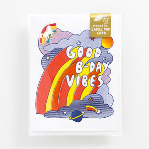 Yellow Owl Workshop | Good Bday Vibes + Unicorn Enamel Pin