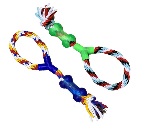 For The Fur Kids Rope and Bone Chew Dog Toy