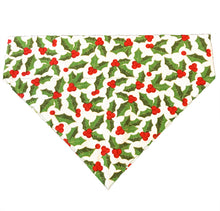 Load image into Gallery viewer, Christmas Dog Bandana: The Holly Leaf