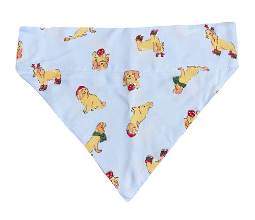 Christmas Dog Bandana: Golden Retriever Love Bandana