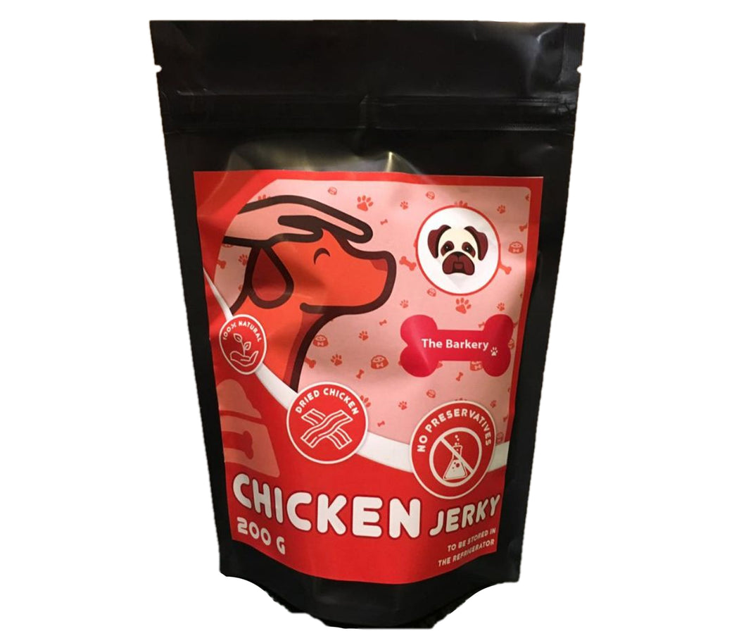 Treats: Chicken Jerky for Dogs and Cats by The Barkery (200 grams)
