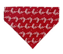 Load image into Gallery viewer, Christmas Dog Bandana: Ho Ho Ho Red Bandana for Pets