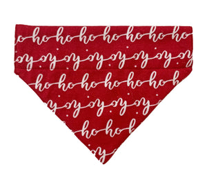 Christmas Dog Bandana: Ho Ho Ho Red Bandana for Pets