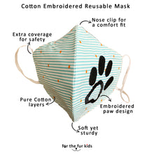 Load image into Gallery viewer, Cotton Embroidered Reusable Non-Surgical Mask (Set of 2)