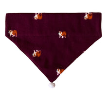 Load image into Gallery viewer, Dog Bandana: Crimson Christmas Bandana for Pets