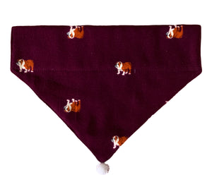 Dog Bandana: Crimson Christmas Bandana for Pets