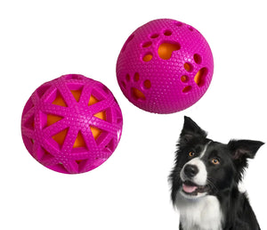 For The Fur Kids Squeaky Balls for Dogs and Cats (Set of 2)
