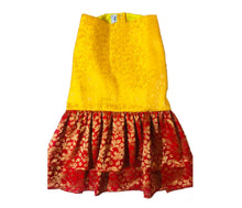 Load image into Gallery viewer, Dog Clothes: Indian Wear Anarkali Dress for Dogs (Yellow and Red)