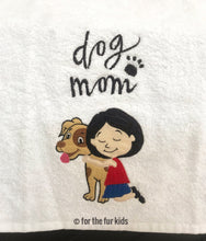 Load image into Gallery viewer, Dog Mom Embroidered Towel